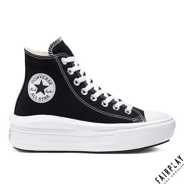 Converse W All Star 黑 女鞋 高筒 輕量 增高 厚底 運動鞋 厚底鞋 帆布鞋 568497C