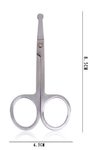 [協貿國際]  不銹鋼修眉剪刀美容剪專業眉剪眉毛夾 (5個價)