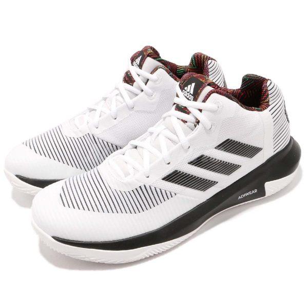 adidas D Rose Lethality 白 黑 低筒 透氣網布鞋面 籃球鞋 男鞋 羅斯 飆風玫瑰【PUMP306】 BB7158