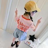 女童短袖T恤夏季新款童裝嬰兒夏裝歲女寶寶洋氣兒童上衣花間公主