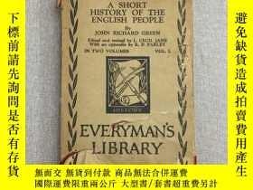 二手書博民逛書店A罕見SHORT HISTORY OF THE ENGLISH PEOPLE 精裝 一卷Y361329 JOH
