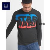 Gap男裝 星球大戰系列純棉圓領長袖T恤 122921-暗夜黑