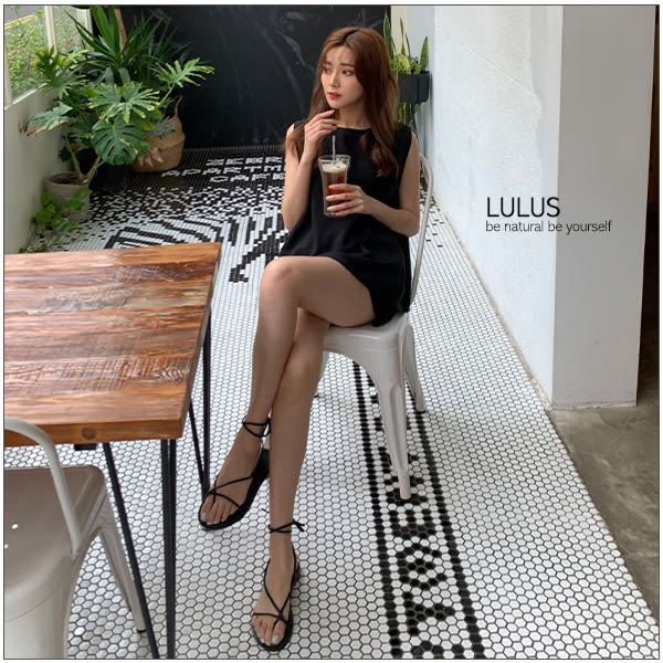 LULUS-Y可多穿兩件式-綁帶無袖上衣+短褲-附綁帶-3色  【01190195】