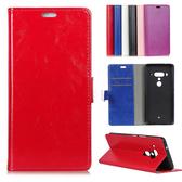 HTC U12+ U12plus 後扣瘋馬紋 插卡 支架 手機皮套 皮套 內軟殼 全包邊 簡約皮套