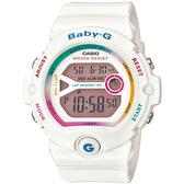 Baby-G 仲夏輕慢跑女錶-白_BG-6903-7C