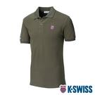 K-SWISS Vintage Polo短袖Polo衫-男-橄欖綠
