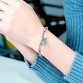 【5折超值價】流行時尚日韓簡約愛心造型女款鈦鋼手鍊