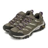Merrell 戶外鞋 Moab 2 GTX 綠 紫 女鞋 Vibram 大底 低筒 健行 登山鞋【ACS】 ML033466