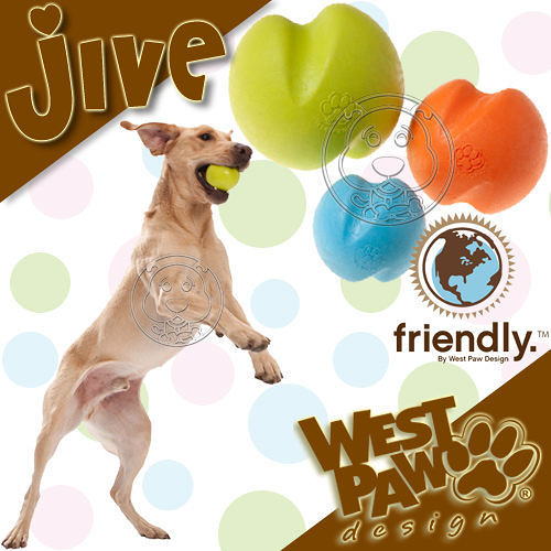 【 培菓平價寵物網 】美國West Paw Design《Jive 球》3.25吋 耐咬拉扯浮水玩具