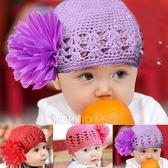 花朵蕾絲針織帽  (適合6M-24M)  橘魔法Baby magic 現貨