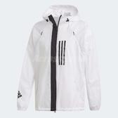 adidas 連帽外套 W.N.D. Fleece Lined Jacket 白 黑 男款 基本款 夾克【ACS】 DZ0054