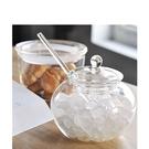 [拉拉百貨]雜貨風 玻璃糖罐 調味罐 附匙 收納 收納罐
