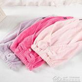 純色三角幹髪帽 吸水柔軟幹髪毛巾長髪短髪珊瑚絨包頭毛巾  居樂坊生活館