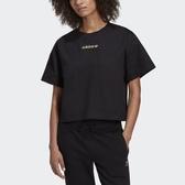 J-adidas ORIGINALS R.Y.V. Boxy Tee 女款 黑色 短T 短板 短袖 休閒 透氣 舒適 GD3073