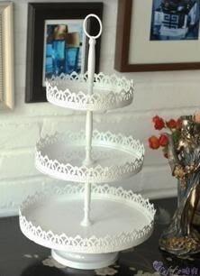 歐美式婚慶多層蛋糕 蛋糕 鐵藝蛋糕架 多層糕點架托盤點心盤