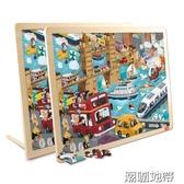 兒童拼圖木制拼板益智早教玩具2-3-4-5-6周歲男女孩生日禮物