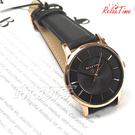RELAX TIME Classic 經典系列 立體波紋簡約俐落男錶 真皮手錶 防水錶 玫瑰金X黑 RT-88-5M