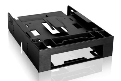 ICY DOCK FLEX-FIT Trio 免螺絲 雙2.5 HDD/SSD & 一3.5 硬碟/裝置空間轉一5.25 硬碟轉接架 套件