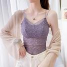 夏季女士韓版打底衫百搭短款小背心大碼內搭上衣抹胸薄款蕾絲吊帶