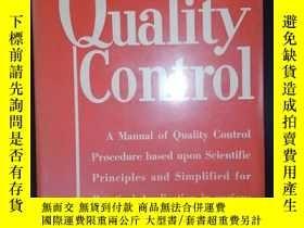 二手書博民逛書店Quality罕見Control (ENLARGED FOURTH EDITION)(詳見圖)Y6583 No