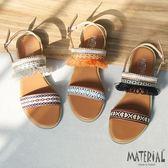 涼鞋 民族風流蘇織面涼鞋 MA女鞋 T8006