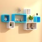 墻上置物架客廳電視背景墻裝飾架壁掛創意格子墻壁櫃臥室墻面隔板