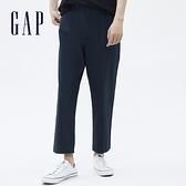 Gap男裝 通勤寬版休閒褲 701293-海軍藍