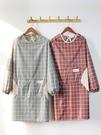 圍裙 圍裙家用廚房長袖防水防油定制工作服時尚女做飯圍腰反穿罩衣大人 寶貝計畫 618狂歡