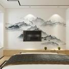 中式電視背景墻壁紙
