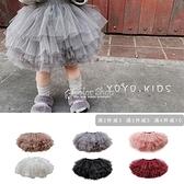 女童半身裙2021春夏款兒童公主裙紗裙女孩蓬蓬裙嬰幼兒舞蹈短裙子 快速出貨