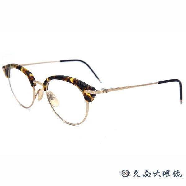 Thom Browne 眼鏡 眉框 近視眼鏡 TB706 琥珀-金 久必大眼鏡