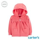 【美國 carter s】經典粉色素面連帽外套-台灣總代理