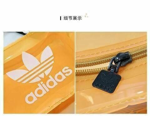 愛迪達 Adidas 時尚穿搭必備 果凍包 防水 游泳好幫手 化妝包 零錢包 肩包 側背包 手拿包 非 LV