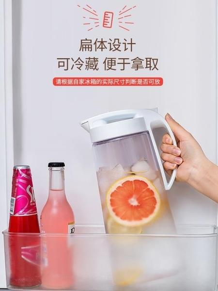 日本Asvel冷水壺 塑料家用密封涼水壺大容量耐高溫冰箱水壺涼水杯 滿天星