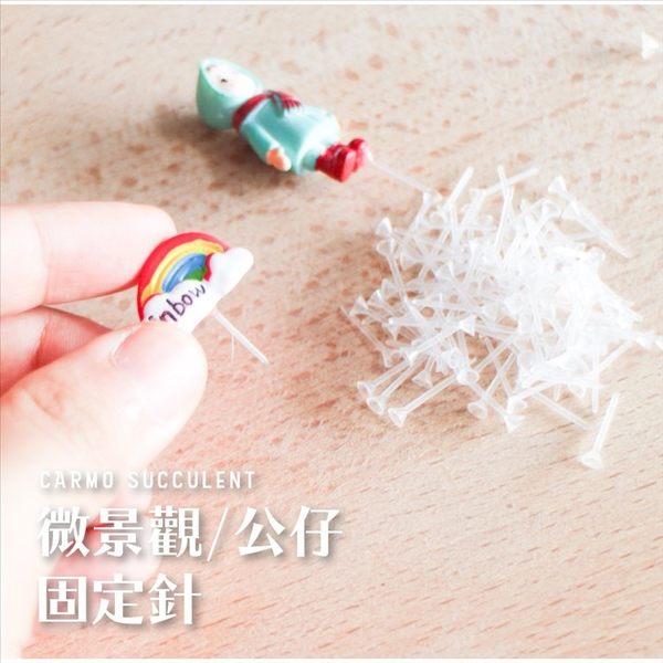 CARMO透明微景觀固定針塑膠針(80入)【A020006】