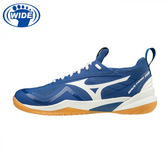 MIZUNO 羽球鞋 WAVE FANG ZERO 高階 安定大底 71GA199027 藍 贈運動襪 20SSO