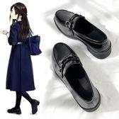 【99免運】娃娃鞋 小皮鞋女 英倫風一腳蹬平底日繫學院風jk單鞋