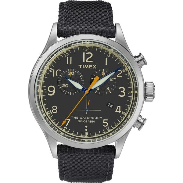 【TIMEX】天美時Waterbury系列 雙眼計時手錶(黑 TXTW2R38200)