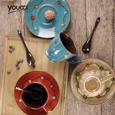 專業手繪陶瓷咖啡杯碟套裝 DA3467『毛菇小象』