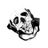 機車裝備熒光夜光朋克死神骷髏表演晚會鬼頭口罩 搖滾頭戴皮面罩