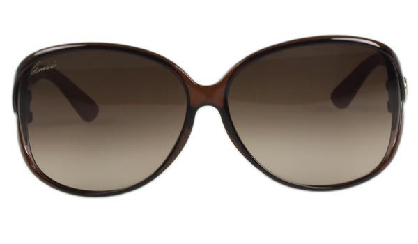 GUCCI-閃耀鑽石系列 太陽眼鏡(咖啡色)