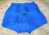 【震撼精品百貨】Micky Mouse_米奇/米妮 ~DISNEY 平口褲-格子藍