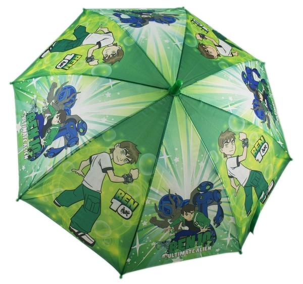 【卡漫城】Ben 10 兒童 雨傘 藍色怪物 ~ 田小班 Ben10 少年駭客 雨傘 把手 自動直立傘