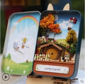 diy小屋 手工制作鐵盒子劇場迷你小房子模型拼裝玩具創意生日禮物 - 雙十二交換禮物