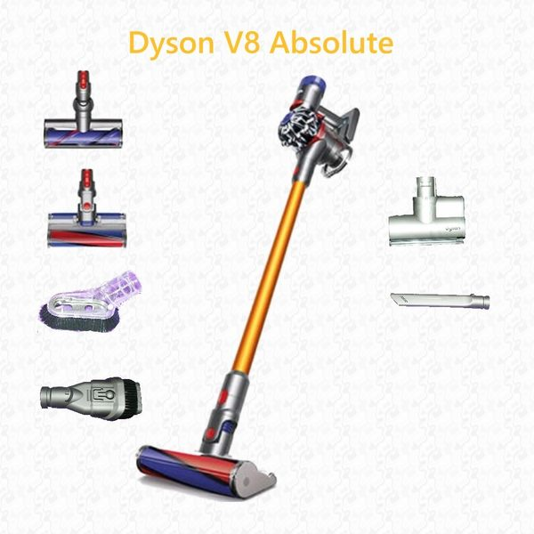 母親節好禮 dyson V8 Absolute  雙主吸頭手持吸塵器 HEPA sv10 fluffy 內附六吸頭 (內含三個電動吸頭)