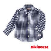 MIKI HOUSE 經典格子襯衫(藍)
