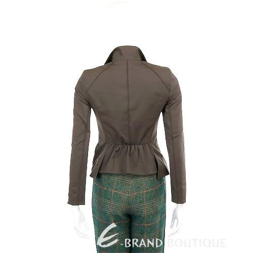 SCHUMACHER 墨綠色皺褶設計西裝外套 1040014-C9