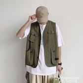馬甲外套工裝機能風背心馬甲外穿男ins港風外套薄款夏季嘻哈秋季馬甲 非凡小鋪
