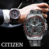 【公司貨保固】CITIZEN 星辰 限量款 光動能 鈦金屬電波錶 41mm 藍寶石玻璃鏡面 AT8145-59E