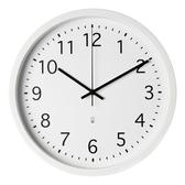 HOLA 素色靜音壁鐘 直徑39cm 白色款